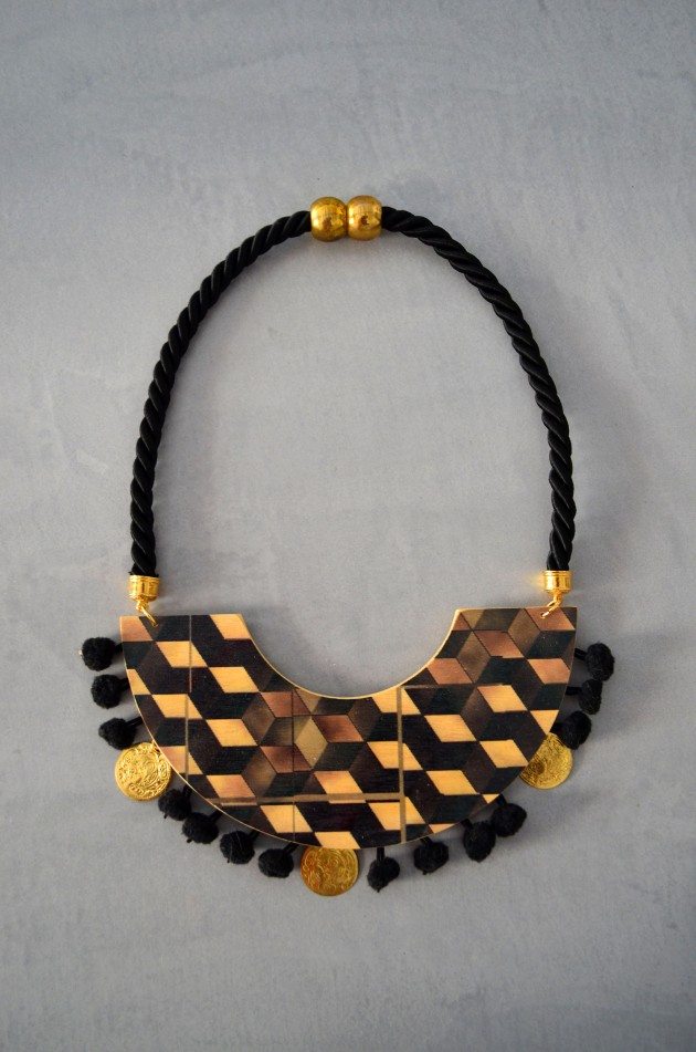 big wood necklace